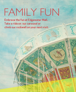 Ride the carousal at Edgewater Mall